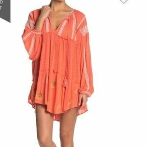 Free People Wild Horses Mini Dress S Embroidered